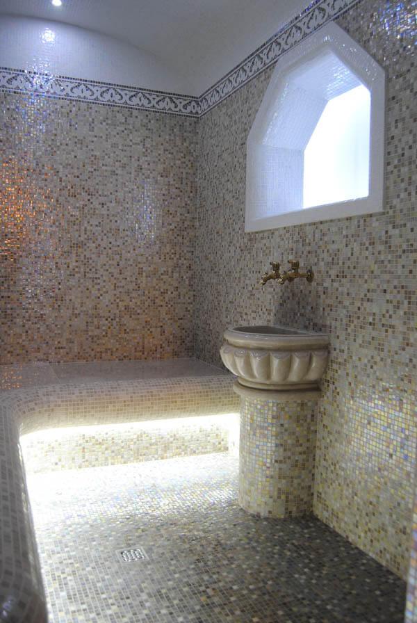 Финишная отделка турецкой бани , хамама после строительства