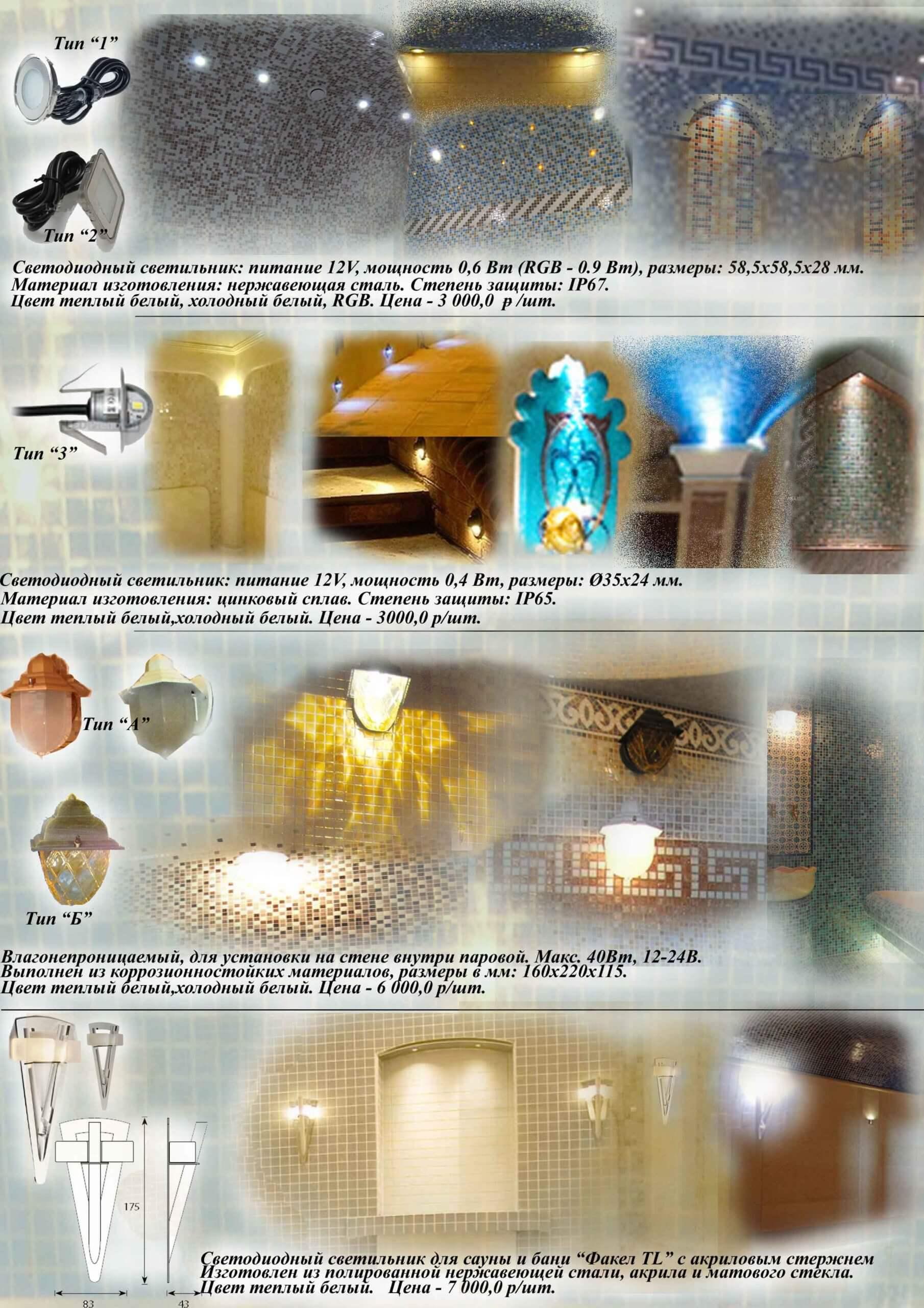 Светильники для турецкой бани, хамам