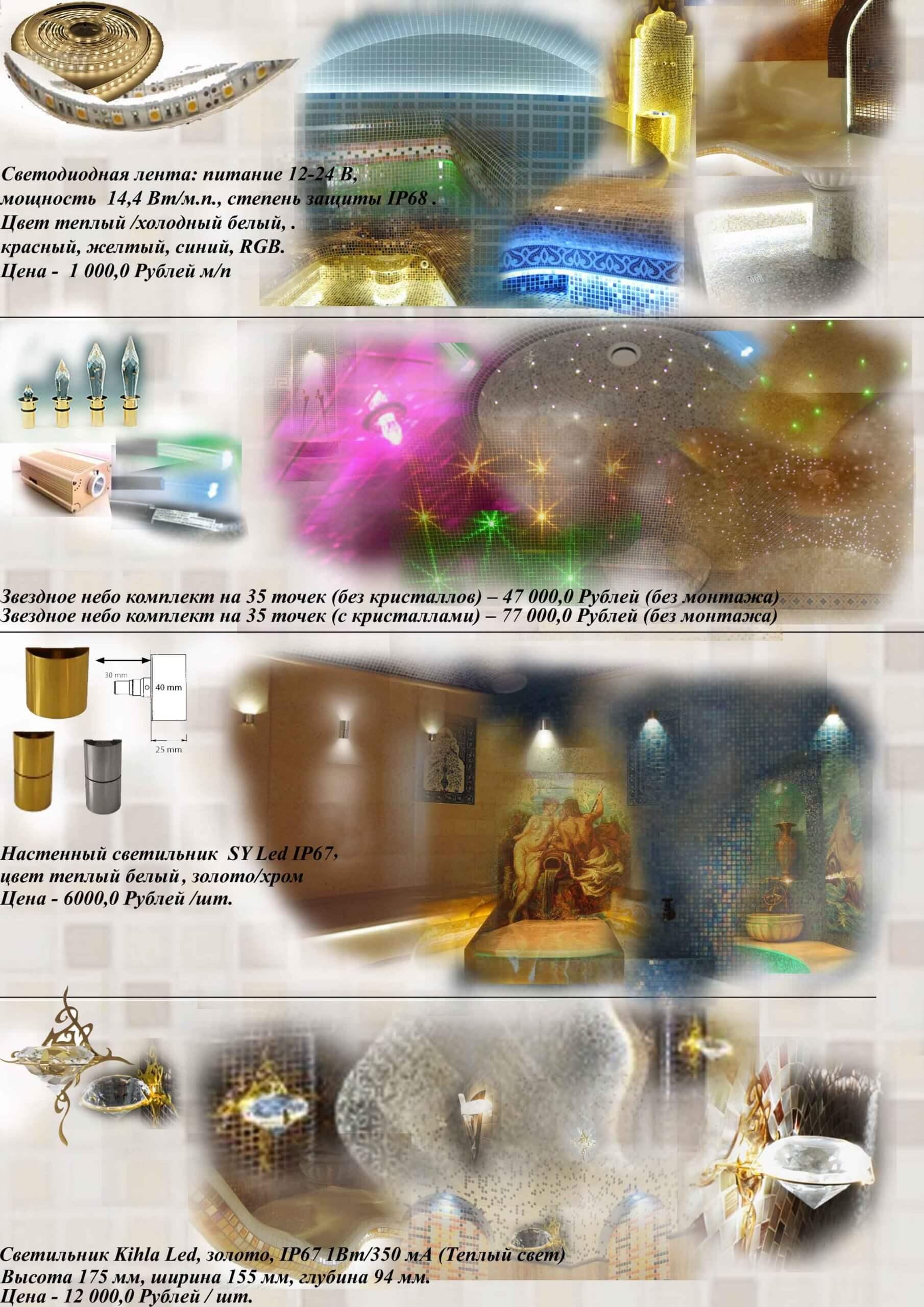 Светильники не дорого для турецкой бани
