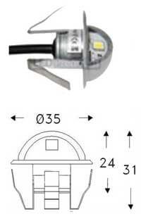 Мини Светильник для подсветок в турецкой бани