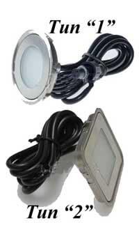 Плоские диодные светодиодные светильники в хамам