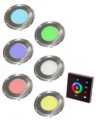 комплект хромотерапии для хамама светодиодные светильники РГБ 12 В из нержавейки