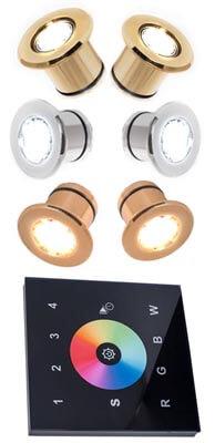 Хромотерапия для турецкой бани - комплект светодиодных RGB светильников с изменением цвета