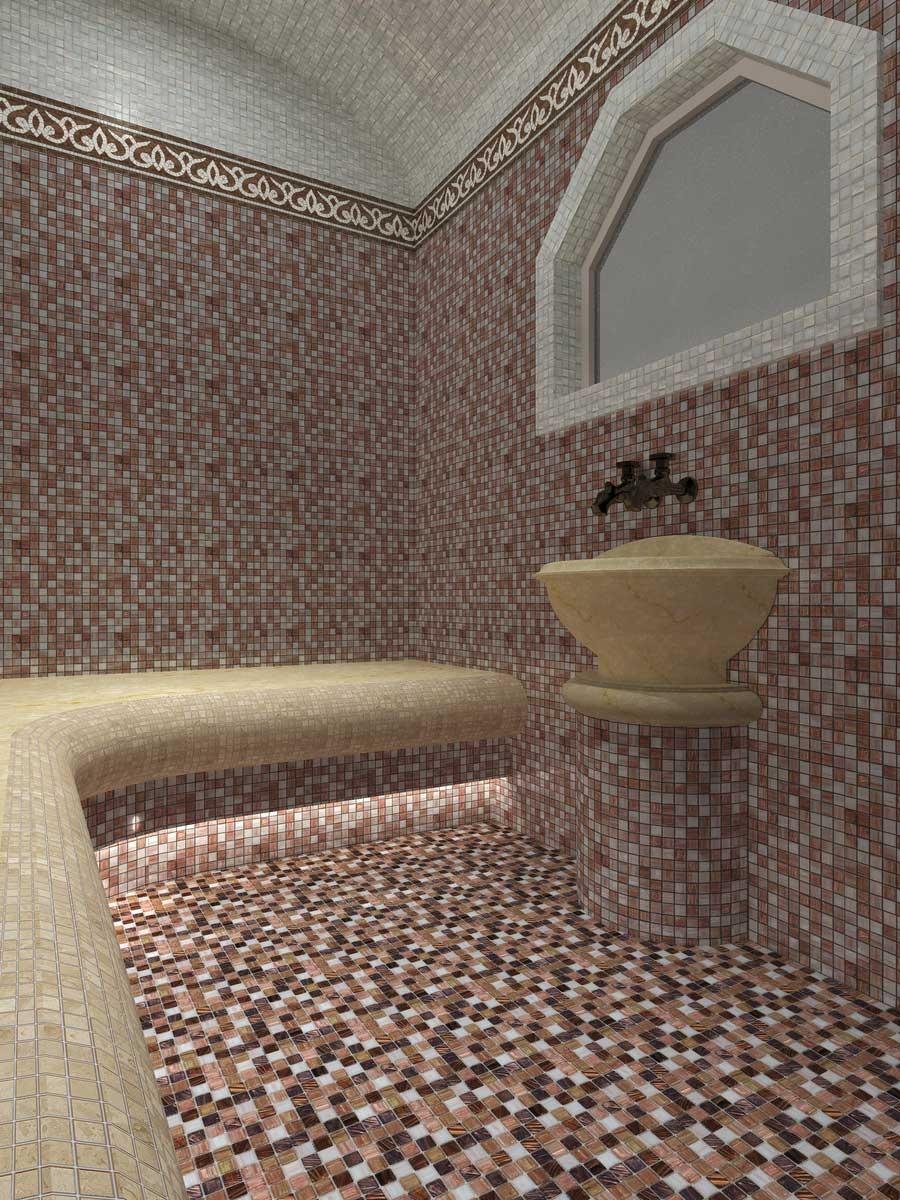 Визуализация турецкой бани хамам перед возведением