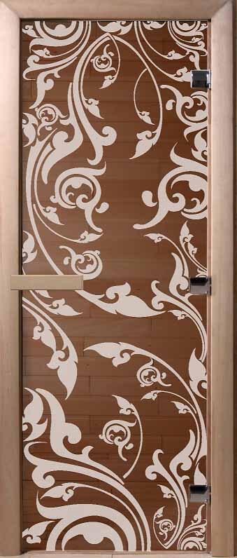 DoorWood двери для финских  саун с рисунком