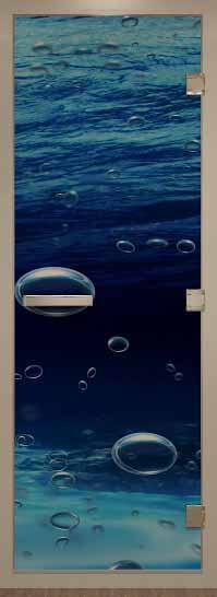 Стеклянная дверь в хамам серия арт