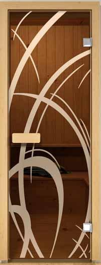 Дверь для сауны ALDO С рисунком