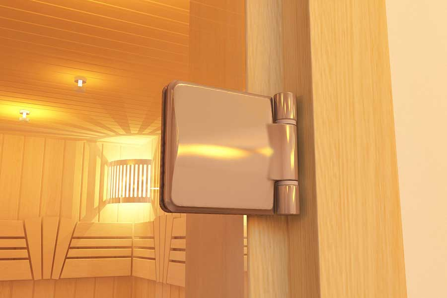Стеклянная дверь для установки в финской сауне