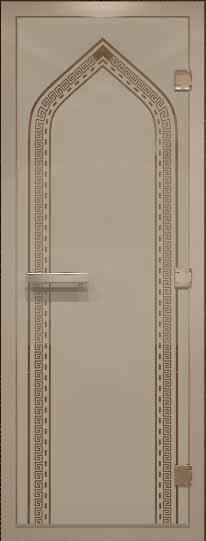 Дверь для турецкой бани российского производителя с рисунком