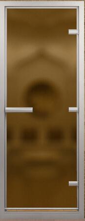 Дверь для турецкой бани в золотой коробке