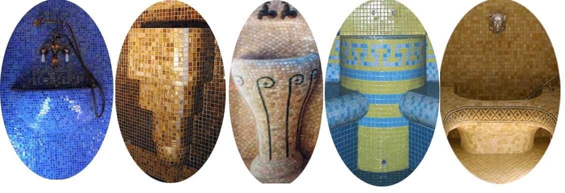 Курна в строительном исполнении под облицовку мозаикой