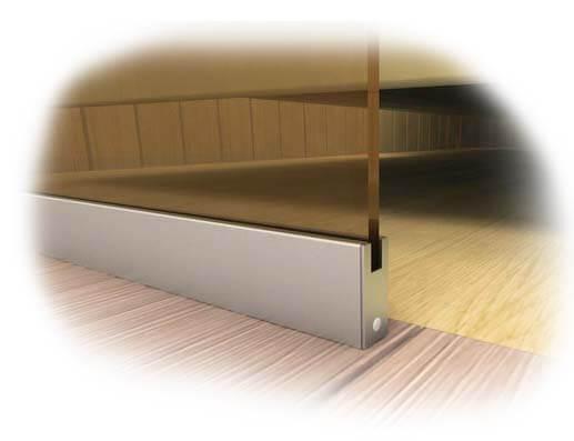 профиль для стеклянного фасада в баню