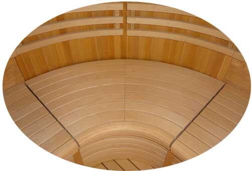 Комплект угловых радиусных элементов для полоков для сауны