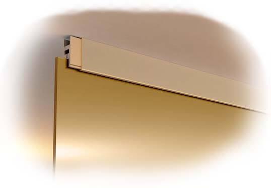 потолочный профиль для стеклянного фасада в баню