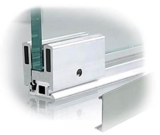 профиль для стеклянной перегородки в баню