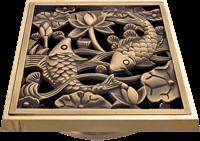 Решетка для трапа под бронзу с рыбками