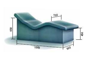Лежак анатомический люкс  из полистирола для хамама, зоны отдыха