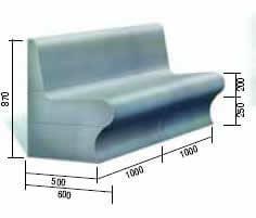 Сиденье со спинкой из пенополистирола для хамама, зоны отдыха