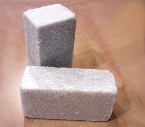 Солевой брикет, кирпич из спрессованной морской соли, размер 250х120х80 мм, вес - 4 кг/шт.